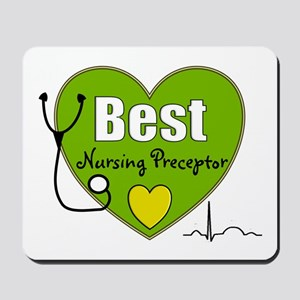 best nursing preceptor green Mousepad